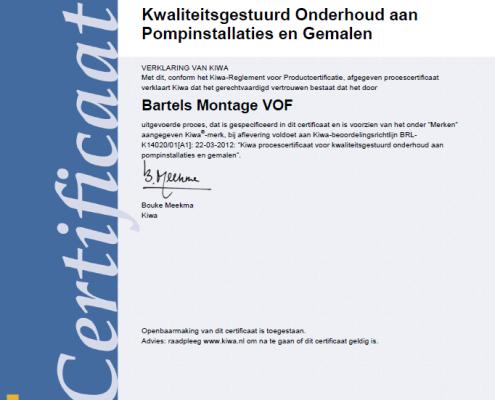BRL certificaat